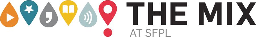 Teen center logo: the Mix at SFPL